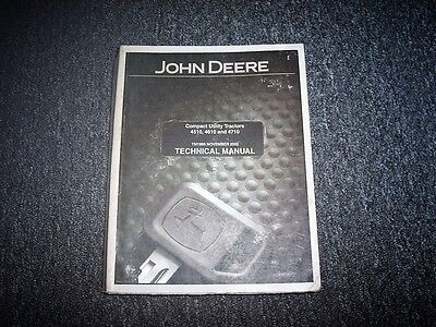 John Deere 4510 4610 Compact Utility Tractor Repair Service Shop Manual Tm1986