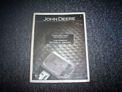 John Deere 4710 Compact Utility Tractor Repair Service Shop Manual Tm1986