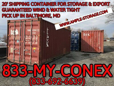 40 Shipping Container - Cargo Worthy - Baltimore Md