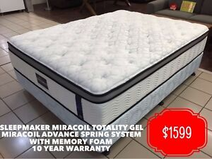 SLEEPMAKER MATTRESSES RANGE – BRAND NEW, CLEARANCE AND EX HOTEL Gold Coast Region Preview