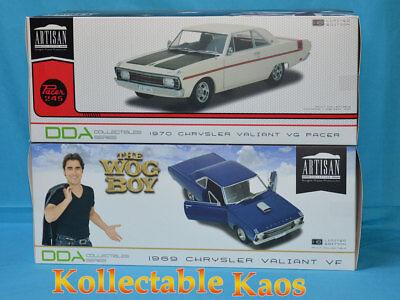 DDA Car Combo - 1:18 1969 VF Valiant Hardtop The Wog Boy & 1970 VG Valiant White for sale  Shipping to Canada