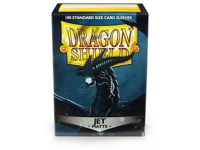 Jet Matte 100 ct Dragon Shield Sleeves Standard Size FREE SHIPPING! 10% OFF -