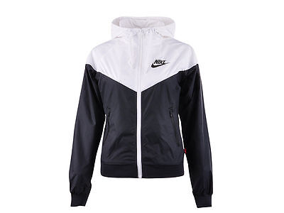 Nike WindRunner Women's Jacket Windbreaker Hoodie Black White ...