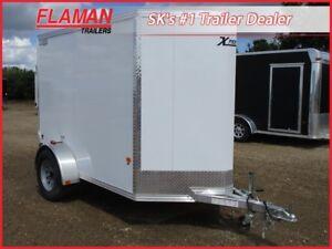 Alcom Xpress 5 'x 8' Enclosed Trailer - All Aluminum Frame!