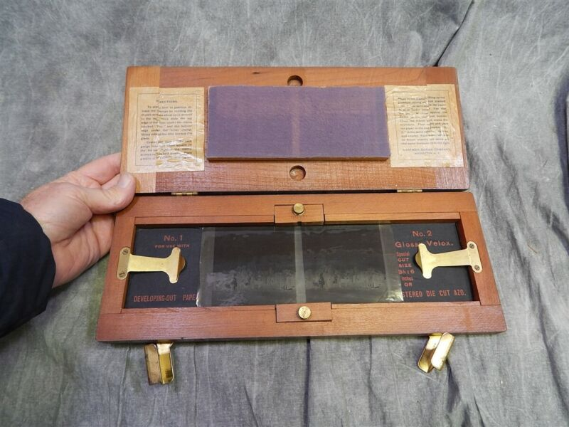 Antique Stereo Hawk-Eye Self-Transposing Printing Frame