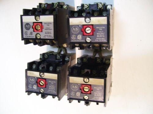 LOT 4PC AB ALLEN BRADLEY 700-P200A1 SER AB 10A CONTROL RELAY 120V 1NC/3NO P2787