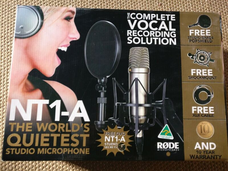 Rode NT1-A Microphone - Pristine - With SM6 Shock mount and pop shield
