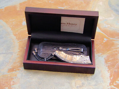 WILLIAM HENRY PERSIAN DMTW WOOLLY MAMMOTH TOOTH DAMASCUS FOLDING POCKET KNIFE