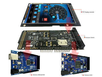 43.97 480x800 Arduino Tft Touch Screen Shield With Example And Library