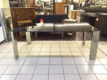 CLEARANCE - DINING TABLE W/GLASS TOP Brisbane City Brisbane North West Preview