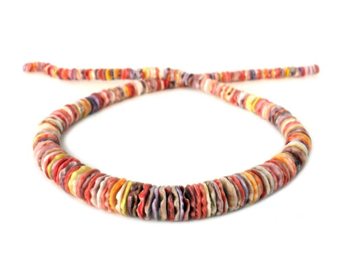 Multicolored Graduated Pectin Shell Heishi Beads (16 Inches Strand)