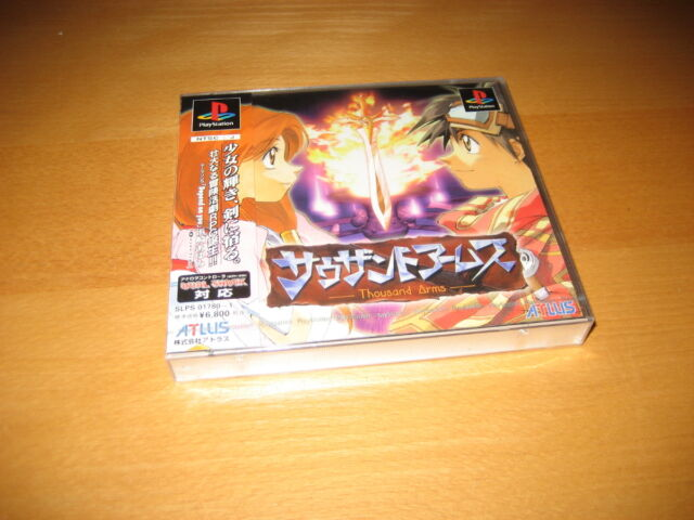 Thousand Arms Playstation PS1 Japanese Import Brand New Sealed