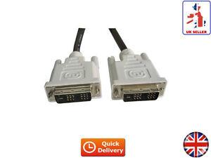 DVI-D TO DVI-D SINGLE LINK MONITOR PC VIDEO HDTV CABLE 1.8M (UK)