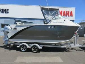 Sailfish Reefrunner - With twin 60 hp Honda outboards
