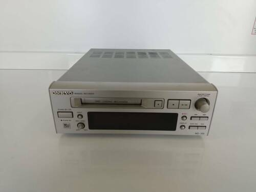 Onkyo MD-105 Mini Disc Recorder High Speed Audio Used Silver