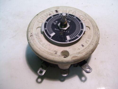 OHMITE 0524 0.5 OHM 150W 17.3 A RHEOSTAT P3862
