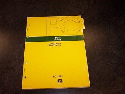 John Deere 7520 4wd Four Wheel Drive Tractor Parts Catalog Manual Book Pc1291
