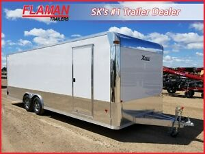 Alcom 8' x 24' Xpress Aluminum Car Hauler - with Escape Door