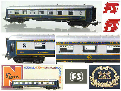 LIMA 304 VINTAGE '1983 RAILWAY CARRIAGE PULLMAN CAR CIWL for FS ITALIAN Nr.4161, used for sale  Shipping to Ireland