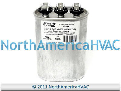 CD25+15x440 NEW Supco Oval Motor Dual Capacitor 25+15 uf MFD 440 VAC Volt