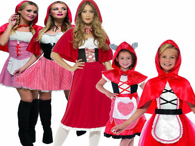 Girls Ladies Little Red Riding Hood Halloween Costume Fancy Dress World Book (Little Red Riding Hood Little Girl Kostüm)