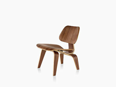 Herman Miller  Eames Molded Plywood Lounge Chair with Wood Base