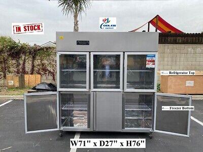 Glass Door Refrigerator Freezer Combo Rg466 Door Commercial Coolerrestaurant