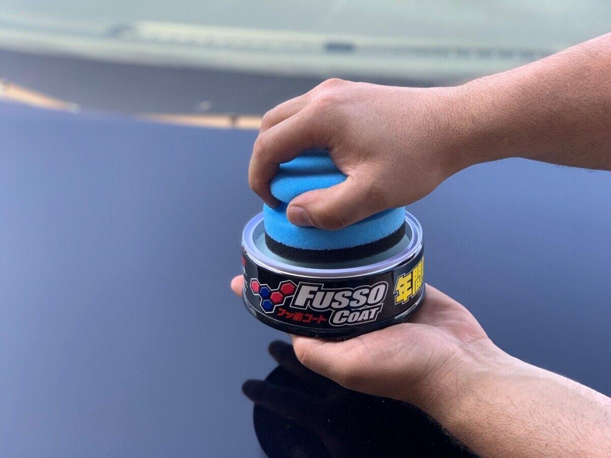 Soft99 New Fusso Coat 12M black Versiegelung DFT Auftragspuck Microfasertuch
