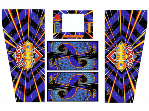 DR WHO Doctor Who Pinball Machine CABINET Decal Set