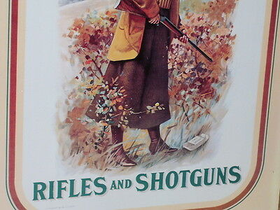 REMINGTON - Rifles and Shotguns - UNUSUAL SIGN -- SHOWS Used Shell Box on Ground