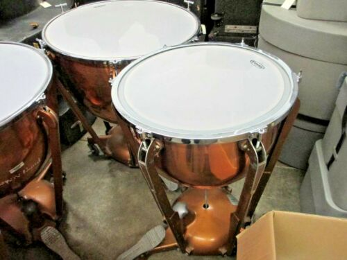 "LUDWIG TIMPANI, SET OF 4 (32"", 28"", 25"", 20""), Copper Bowl, Evans Heads!"