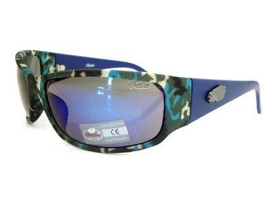 Indian Sonnenbrille Solid Rauchglas Herren Motorrad Fahren Wraparound UV100% Neu