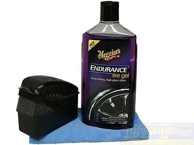 Meguiars Endurance High Gloss Set inkl.Tire Dressing Pad und Microfasertuch,   ()