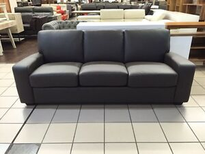 GENUINE LEATHER - MURRAY 3 SEATER SOFA BED (QUEEN BED) Logan Central Logan Area Preview