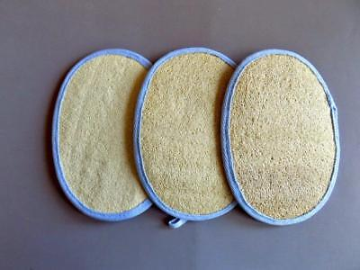 Lavender Loofah/Cotton Waffle Exfoliating Body Pads – Set of -