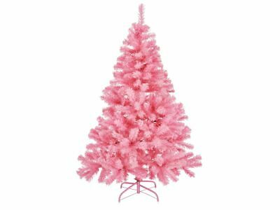 Artificial Árbol de Navidad en Rosa Árbol de Navidad Árbol Abeto 1,5m