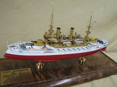 1/350   Battleship USS Kearsarge BB-5  Complete Resin,  PE Brass Model Kit