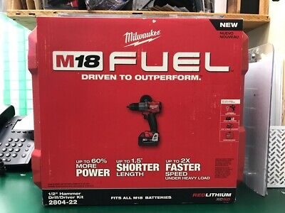 Milwaukee M18 Fuel 12 Hammer Drilldriver Kit 2804-22 E10013002