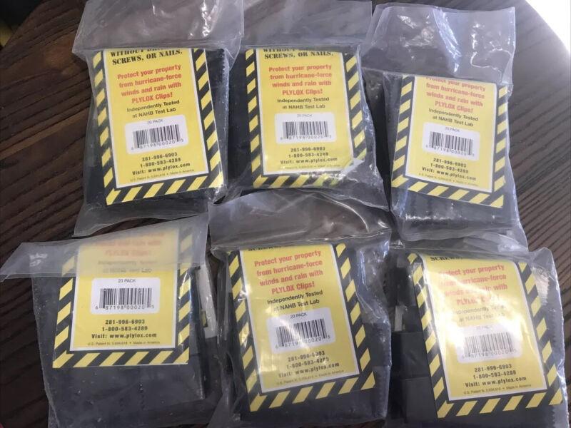 "PLYLOX Windstorm 1/2"" Carbon Steel Hurricane Window Clips 6 packs-20 per pack"