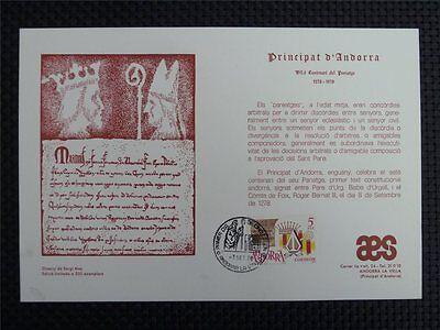 ANDORRA PAREAGE SONDERBLATT CARTA FILATELICA ONLY 350 PIECES!! z795