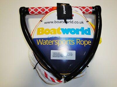 Boatworld 5 Section Waterski Wakeboard Kneeboard Rope 75ft + Rope Keeper