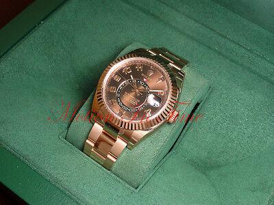 Rolex Sky Dweller 18kt Everose Rose Gold on Bracelet 42mm Annual Calendar 326935