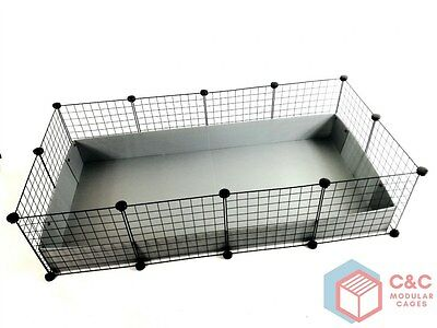 GUINEA PIG C&C CAGE 4x2: Panels x 12 + Connectors x 24 + CORREX TRAY INCLUDED