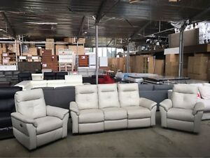 KARIM LEATHER SOFA SET 3+1+1 Granville Parramatta Area Preview
