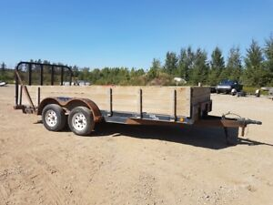 2011 Load Trail L235 18 Flatdeck Car Hauler Trailer