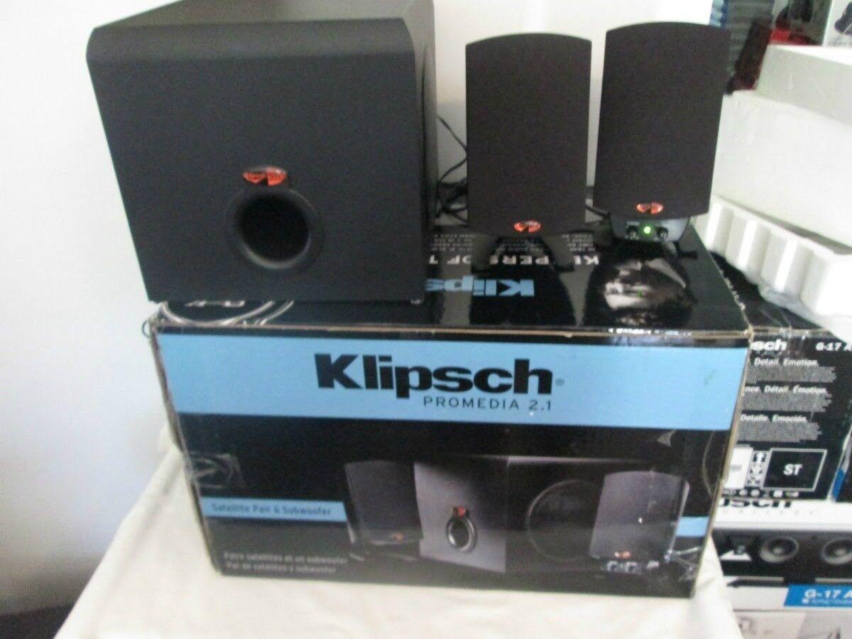 klipsch promedia 2 1 thx certified computer speaker system 743878011586 ebay. Black Bedroom Furniture Sets. Home Design Ideas