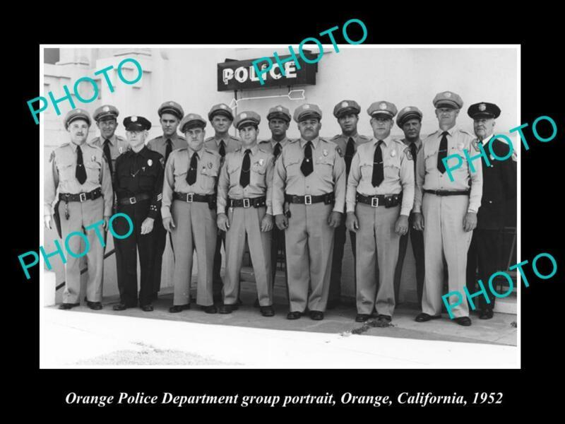 OLD 8x6 HISTORIC PHOTO OF ORANGE CALIFORNIA THE POLICE DEPARTMENT UNIT c1952