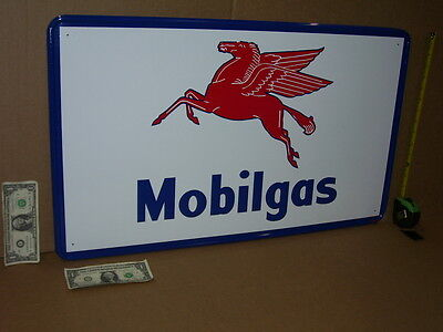 Flying Red Horse Gasoline    Giant Size   Mobil Gas   Oil Sign   Made In The Usa