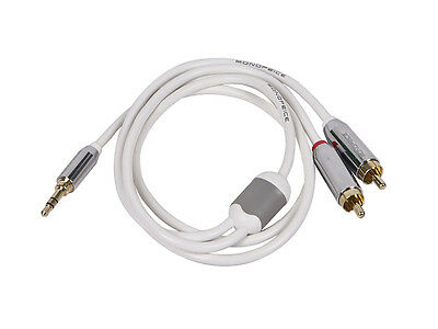 3ft Designed for Mobile 3.5mm Stereo Male to RCA Stereo Male Gold Plated