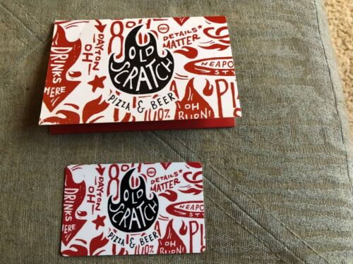 50 Old Scratch Pizza And Beer Gift Card Dayton, Ohio Area - $12.00